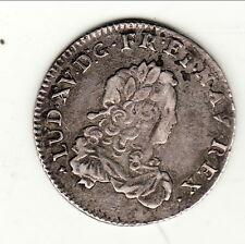 LOUIS XV ROCHELLE  1/3 ECU FRANCE 1723 monnaie circula colonie B1 T 4