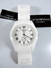 Emporio Armani Ceramica Women's White Ceramic Chrono Watch Bracelet AR1405
