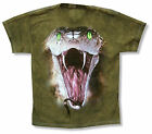"""THE MOUNTAIN """"COBRA"""" GREEN TIE DYE T-SHIRT NEW OFFICIAL YOUTH KIDS ANIMAL SNAKE"""