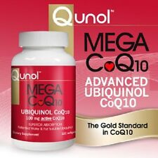 Qunol Mega CoQ10 100mg Ubiquinol, 120 Softgels - NEW