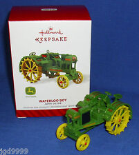 Hallmark Ornament John Deere Waterloo Boy Tractor 2014 Die Cast Metal NIB