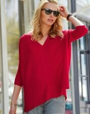 Pure Collection Cashmere Gassato Poncho Red Size S RRP £199 Box4640 A