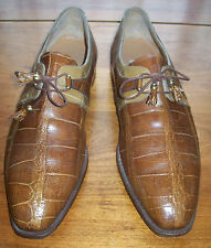 Mauri Luxury Brand Two-Tone Genuine Alligator Shoes~Men's 12M~Made in Italy