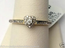 Yellow Gold Halo Style Heart Shape Diamonds Cathedral  Engagement Ring Skinny