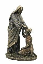 8.5 Inch Jesus Christ Heals a Leper Statue Sculpture Figure Cristo Catholic