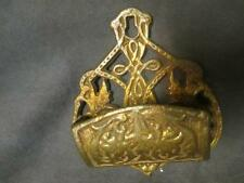 Victorian Cast Brass Match Safe Holder - Barrel shape   ks5