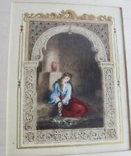 Rare Original Illustration of Slave Girl  c. 1840  LEILA by E.G.D. BULWER-LYTTON