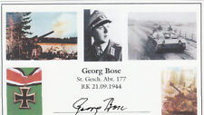 Knights Cross G.Bose Platoon LD WWII Barbarossa,Leningrad,Battle of Kursk SIGNED
