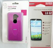 Body Glove Fusion Case w/ Kickstand for LG G2 - Pink free Screen Protector