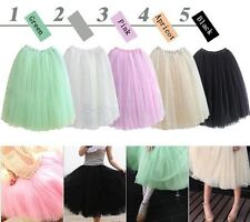 Black Ladies Tutu Long Skirt Ballet Costume Adults Performance Fashion 50s