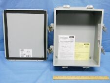 "NEW Hoffman A1210NF Enclosure, I.D.12"" X 10"" X 5"" JIC Box, 8 Clamp Gasket Cover"