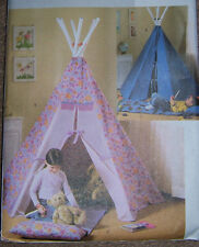 pattern/directions to make yourself indoor TEPEE for kids 72x80 tall TeePee OOP