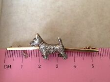 Wow Art Deco Antiguo Vintage Escocés Perro en 9ct Oro Broche Pin