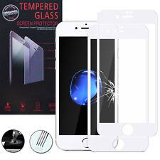 """2 Films Verre Trempe Protecteur Protection BLANC pour Apple iPhone 7 Plus 5.5"""""""