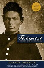 Testament: A Soldier's Story of the Civil War Bobrick, Benson Paperback