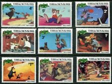 TURKS & CAICOS 1981 UNCLE REMUS - WALT DISNEY SET OF 9 MINT COMPLETE!