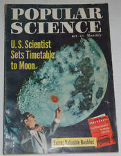 Popular Science Magazine U.S. Scientists Sets Timetable To Moon May 1958 120514R