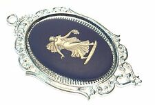 Large Wedgwood Jewelry Oval Jasperware Cameo in Pendant