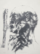 "ORIGINAL 1958 Joseph Hirsch PENCIL SIGNED ""Beard"" LTD ED Lithograph 16 of 50 yqz"