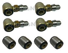 "Four 3/4"" Thread 4 Link Bar Rod Ends Urethane Bushings 1.25"" Weld Bung 2"" Wide"