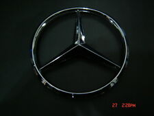 WILL FIT MERCEDES  8.5 cm Emblem LOGO  STAR BADGE Chrome ABS  NEW with Pins