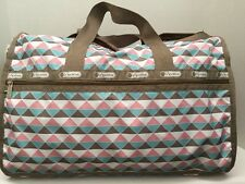 NWT LeSportsac Large Weekender Duffle Travel Bag Pink Pyramid   $118