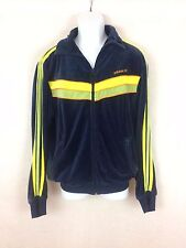Men's blue velour track Jacket a vintage retro look  by adidas Size L