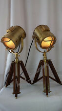 Pair Of Two Retro Marine Table Lamp Studio Search light /Spotlight Lights