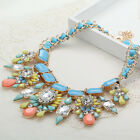 gorgeous pentand Crystal Bib Statement charm chunky colorful collar Necklace 714