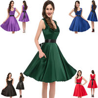 GRACE KARIN 50's RED HEART VINTAGE SWING RETRO PARTY GRADUATION DRESS