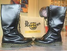 Dr. Martens 20 Eye Combat Knee High Lace Up Boots Black Mens Size 12 USA EUC!!