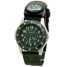 New Army Green Canvas Strap Compass Quartz Casual Men Boys Sport Military Watch