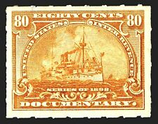 "US Stamp SC # R172 Mint OG NH 80c Documentary Revenue ""Series of 1898"" Stamp"