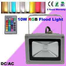 10W Outdoor LED RGB Floodlight Flash Wall Pond Light Garden Yard Landscape Lamp