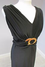 PHASE EIGHT GOLD RING JUMPSUIT - SIZE 12 - WIDE LEG - BLACK