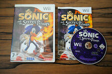 Jeu SONIC AND THE SECRET RINGS pour Nintendo Wii PAL COMPLET (CD OK)