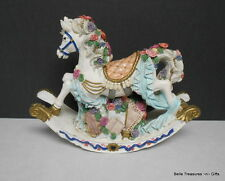 Large Carousel Rocking Horse Music Box Resin