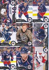 2014-15 Upper Deck Columbus Blue Jackets Complete Series 1 & 2 Team Set 12 Cards