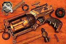 Steampunk Gun Custom Pistol Professional Cosplay Comic Con Costume Nerf Prop