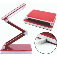 Triumph Red Rechargeable Folding Desk Lamp - Table Light Craft Hobby Compact LED