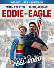 DVD: Eddie the Eagle Blu-ray, Dexter Fletcher. Good Cond.: Hugh Jackman, Taron E