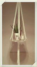 White Vintage Macrame Plate / shelf hanger