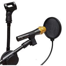 Popschutz Popkiller Pop-Schutz Popfilter für Mic Mikrofon Maske Studio Black Neu