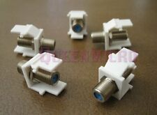 5 QTY Pack F-Type 3GHz Insert Keystone Coax Jack Connectors Adapters RG59 RG6