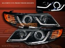 FOR 10-13 FORTE COUPE/FORTE COUPE LED STRIP R8 CCFL HALO PROJECTOR HEADLIGHTS G2