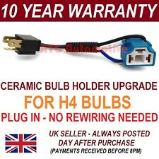 H4 HEADLIGHT CERAMIC BULB HOLDER UPGRADE 100W+ FOR MITSUBISHI LANCER EVO -BH104A