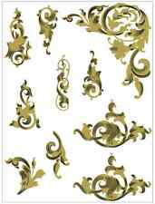 Singer 31- Commercial Sewing Machine Restoration Decals Acanthus Leaves 40852