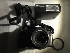 Nikon N8008 35mm Camera AF Nikkor 35-70mm Lens SB-15 Flash MF-20 Databack + FILM