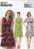 Butterick Easy Sewing Pattern Misses' Bodice Variations Dress Sizes 8 - 24 B6015