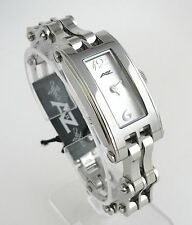 A II Z by TIMEX SILVER DIAL+BIKE CHAIN BAND WOMENS WATCH-NEW-V0V701